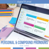 Personal and Compound Personal Pronouns Task Cards