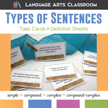Types of Sentences Task Cards, Part II