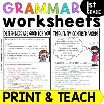 Grammar Sized Bites for 1st Grade