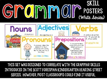 Grammar Skill Posters (White Series)