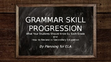 Grammar Skill Progression Instructional Presentation