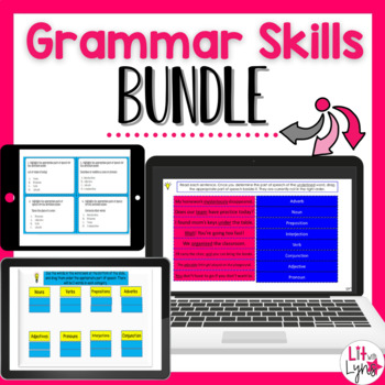 Digital Grammar Skills & Parts of Speech Interactive Activities Bundle