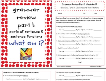 Grammar Skills Review COMBO: SmartNotebook and Printable Supplement