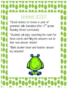 Grammar Skills End of Year Review SCOOT