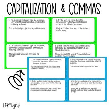 Grammar Skills Task Cards