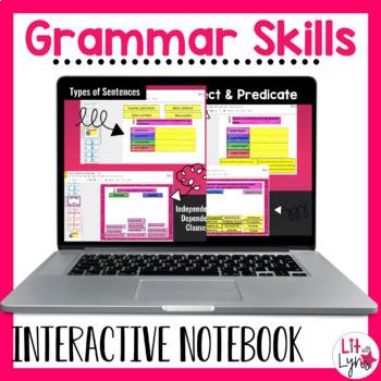 Digital Grammar Skills Interactive Notebook Activities