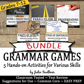 Grammar Games, Great for Learning Stations & Centers, Vol. 1 Bundle, Gr 7-12