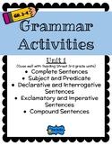 Grammar Skills Activities for 3rd grade Reading Street Unit 1
