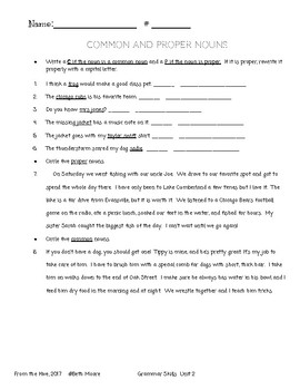 Grammar Skills Worksheets (3rd grade Reading Street- Unit 2)