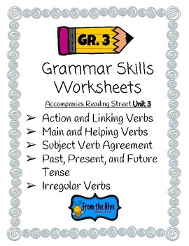 Grammar Skills Worksheets for 3rd grade reading street unit 3