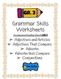 Grammar Skills Worksheets (3rd grade reading street- unit 5)