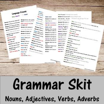Grammar Skit- Nouns, Verbs, Adjectives, Adverbs