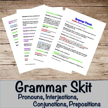 Prepositions, Pronouns, Interjections, and Conjunctions- G