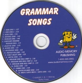 Grammar Songs CD by Kathy Troxel/Audio Memory