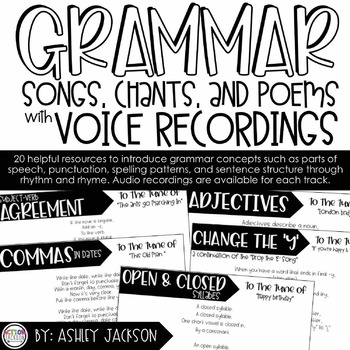 Grammar Songs, Chants, and Poems