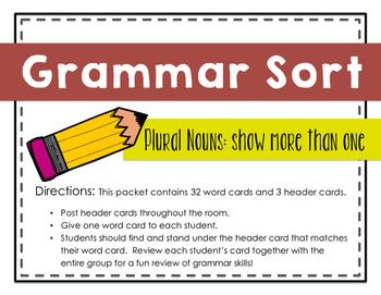 Grammar Sort: Plural Nouns