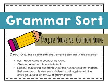 Grammar Sort: Proper Nouns