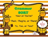 Grammar Sort- Your, You're-Their, They're, There-To, Too, Two