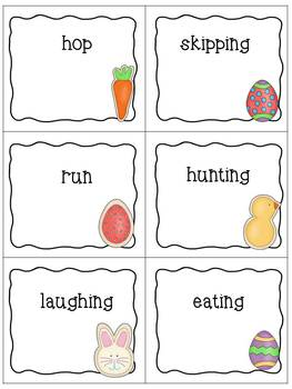 Easter and Spring Noun, Verb, Adjective Sort Center Activity for Second Grade