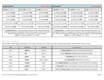 Grammar: Spanish Verb Table