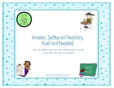 Grammar, Spelling and Vocabulary Incentive Punch Card