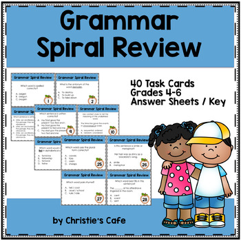 Grammar Spiral Review Task Cards