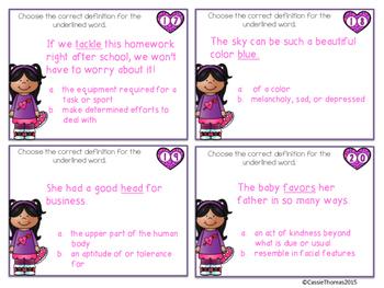 Valentine's Day Grammar Stations