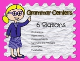 Grammar Stations for Literacy Centers ~ Cut out and go!