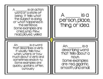 Grammar Study Cards-2nd Grade