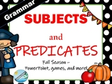 Grammar- Subject and Predicates mini-lesson  (Fall Season)  September / October