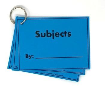 Grammar: Subjects