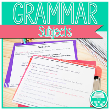 Grammar: Subjects