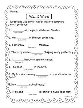 Grammar Subject/Verb Agreement