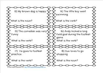 Grammar Task Card Bundle