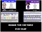Grammar Task Card Bundle! Includes nouns, verbs, & adjectives!