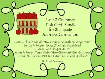 Journeys Grade 2 Unit 2 Grammar Task Card Bundle