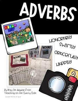 Grammar Task Card Center – Task Pics - Adverbs