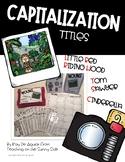 Grammar Task Card Center – Task Pics - Capitalization - Titles