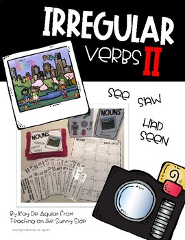 Grammar Task Card Center – Task Pics - Irregular Verbs II