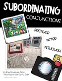 Grammar Task Card Center – Task Pics - Subordinating Conjunctions