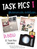 Grammar Task Card Centers Bundle I - Task Pics!