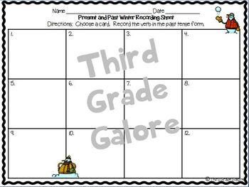 Grammar Task Card Pack - Winter Theme