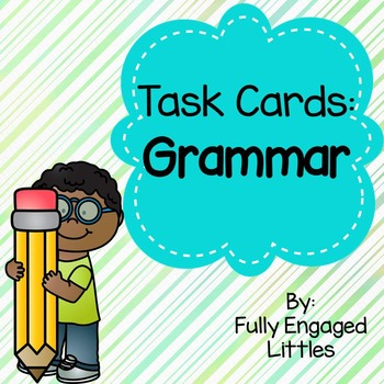 Types of sentences, Nouns, Verbs, Adjectives, and Pronouns Task Cards