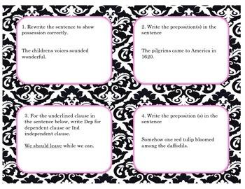 Grammar Task Cards 3