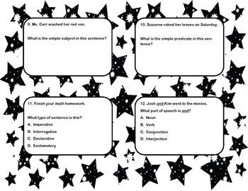 Grammar Task Cards 4