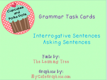 Grammar Task Cards Asking_Interrogative Sentences
