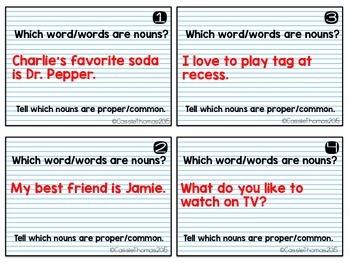 Grammar Task Cards {Back to School Theme}