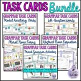 Grammar Task Cards Bundle: Plurals, Verbs, Question words, Modals, Possessives