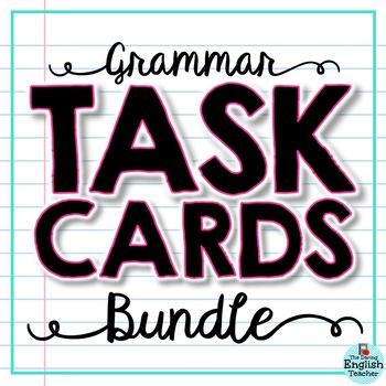 Grammar Task Cards Bundle: Parts of Speech, Pronouns, Conjunctions