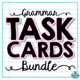 Grammar Task Cards Bundle: Parts of Speech, Pronouns, Conj